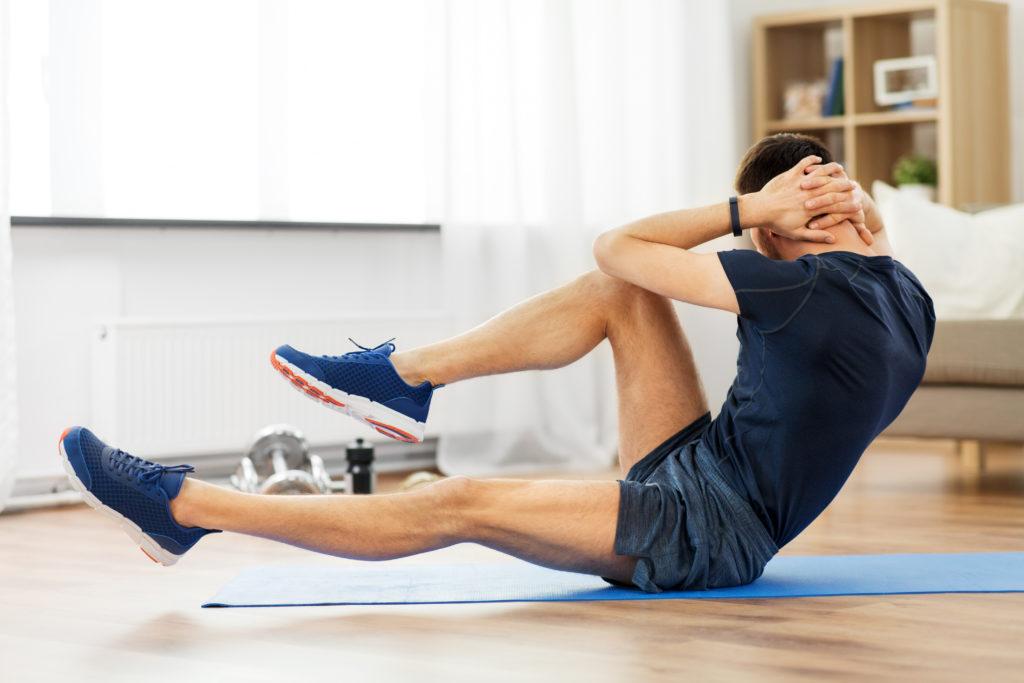 腹筋の筋肉を効果的に割る腹筋トレーニングメニュー